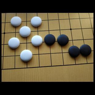 Solidne kamienie ceramiczne do gry w Go, jednostronnie wypukłe.jpg